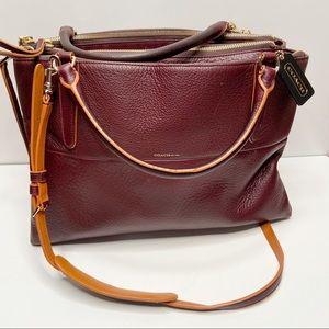 COACH Rare Pebbled Leather Oxblood Borough Bag